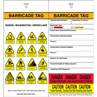 Barricade Tags with CRM Icons Weatherproof